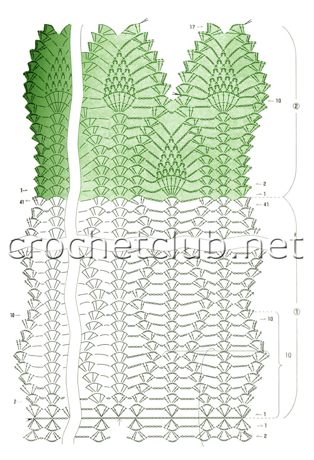 схема узоры для шерсти крючком