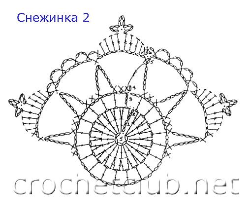 Схемы вязания крючком колокольчиков и снежинок