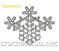 снежинка связанная крючком 2