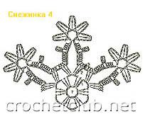 снежинка связанная крючком 4