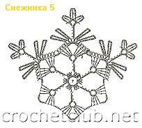 снежинка связанная крючком 5