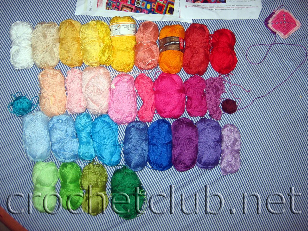 Крючок вязание разными цветами 874