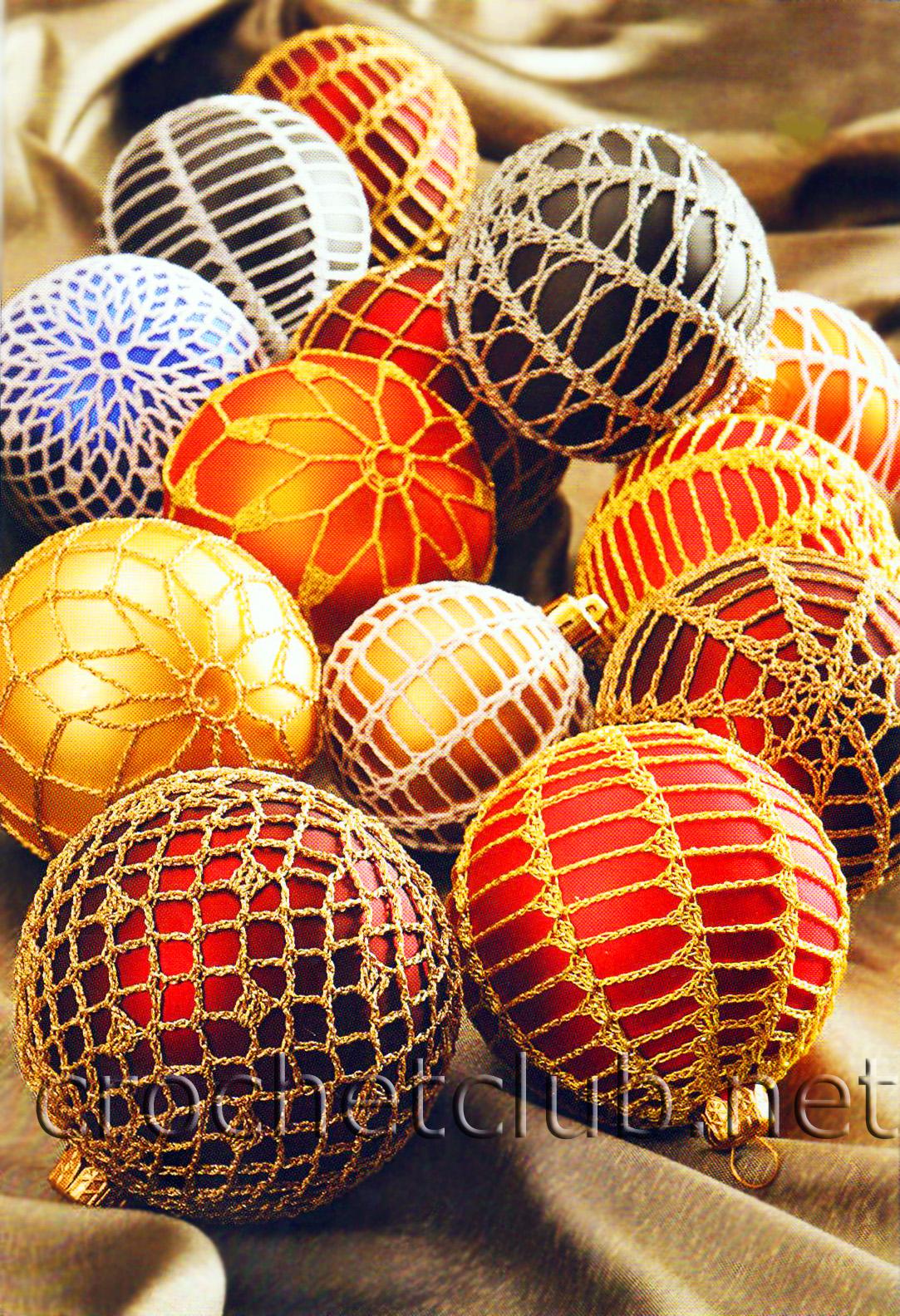 елочные шары вязание крючком блог настика