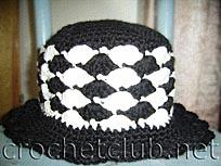 черно-белая шляпка