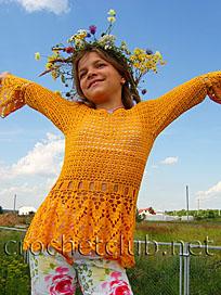 летняя ажурная кофточка