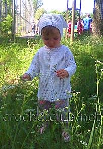 мини-платье и косынка для девочки