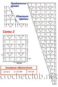 схема кофточки 2