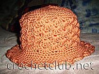 терракотовая шляпка
