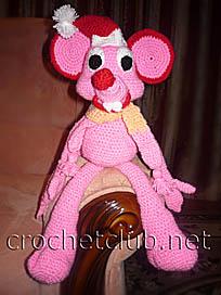 вязаный мышонок