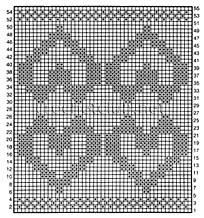 схема подушки с сердечками