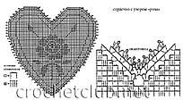 схема сердца с розой