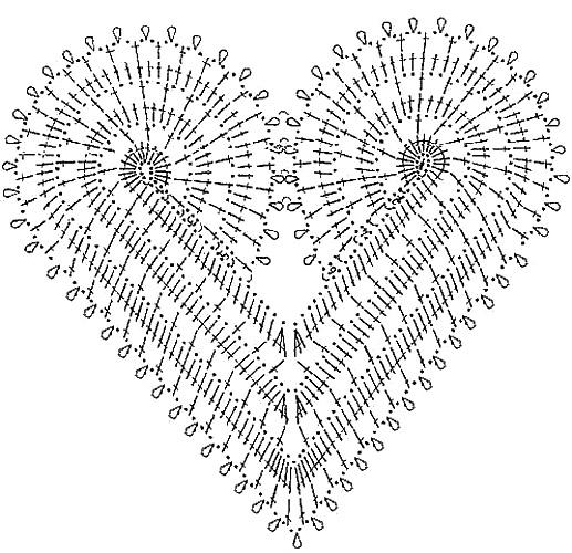 схема сердечка. Посмотрите еще