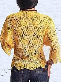 желтый пуловер спинка