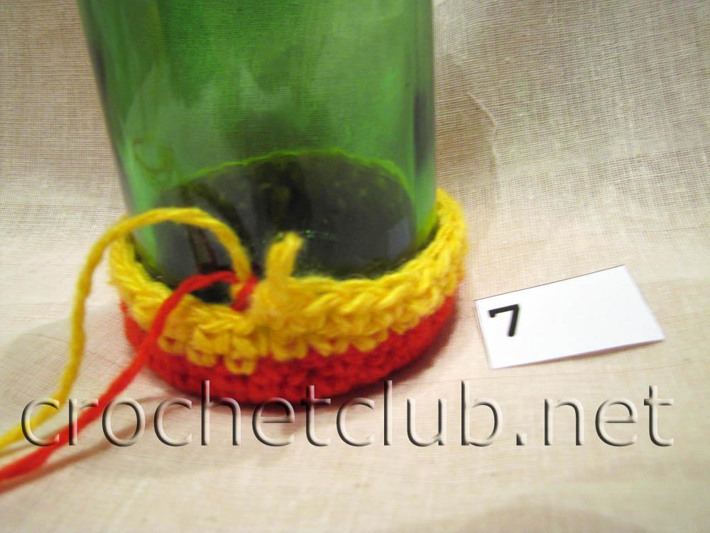 Вязание собачки на бутылку