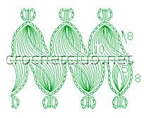 схема вязания шарфа на вилке