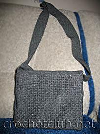 вязаная мужская сумка
