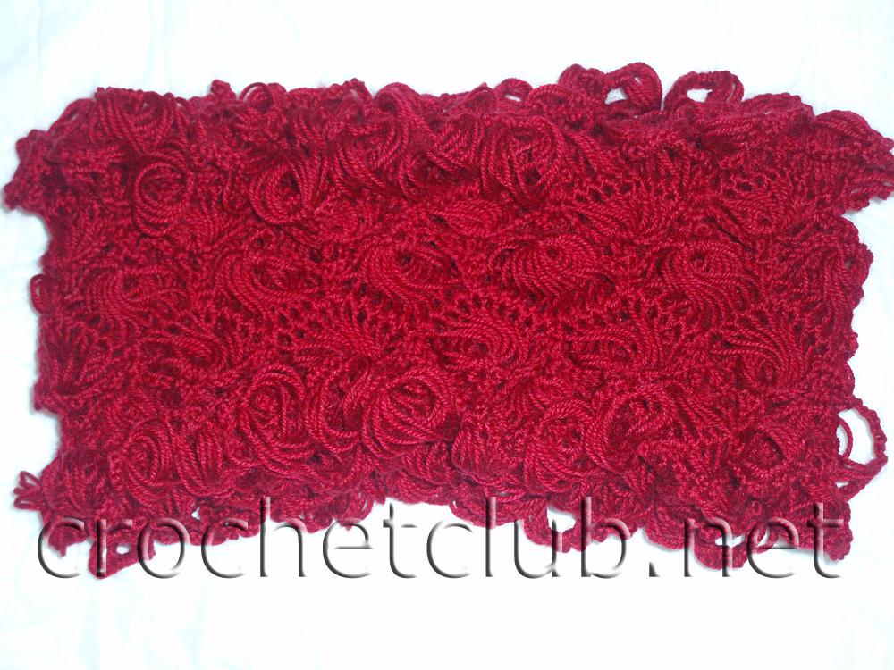 Ажурный шарф, связанный на