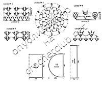 схемы вязания ажурного болеро