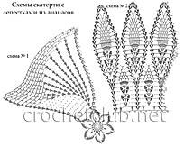 схемы скатерти с лепестками из ананасов