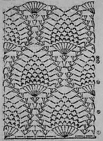 узор ананасового палантина