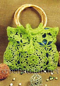 ярко-салатовая сумочка