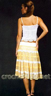 летний вязаный костюм - спинка