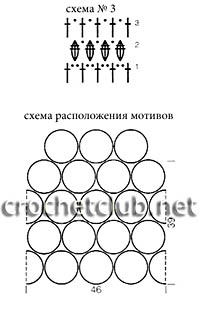 схема кофточки с воротником-пелериной 3