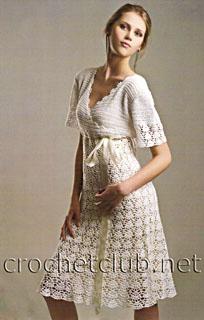 вязаное платье в стиле ампир