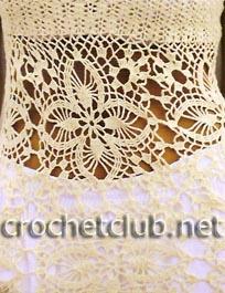 фрагмент белой вязаной туники