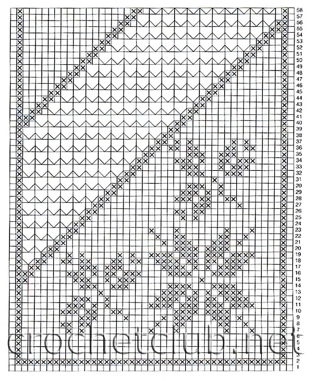 схема дорожки, связанной крючком.