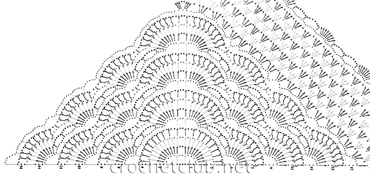 ряд: вяжите согласно схеме