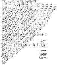 схема шерстяной шали крючком