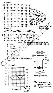 схемы туники белого цвета