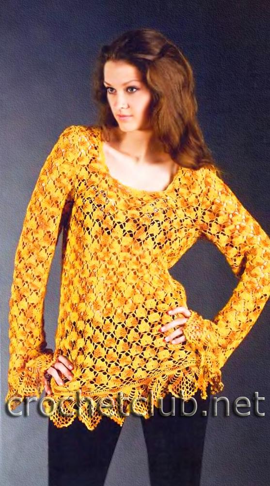 схемы вязания из меланжевой пряжи.