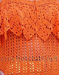 оранжевый топ-фрагмент