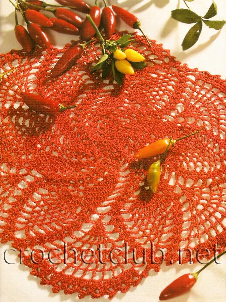 Пряжа красного цвета крючок № 1 25
