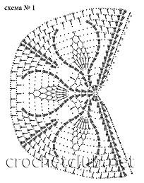 схема белой шали 1