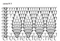схема белой шали 3