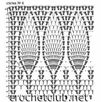 схема белой шали 4