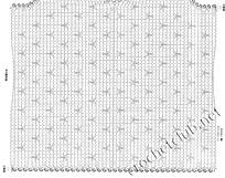 схема стильного вязаного жилета 1