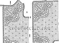 схема стильного вязаного жилета 3