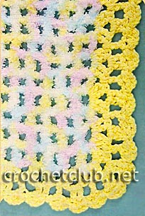 фрагмент одеяла для новорожденного
