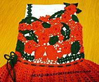 фрагмент платья для девочки в ирландской технике