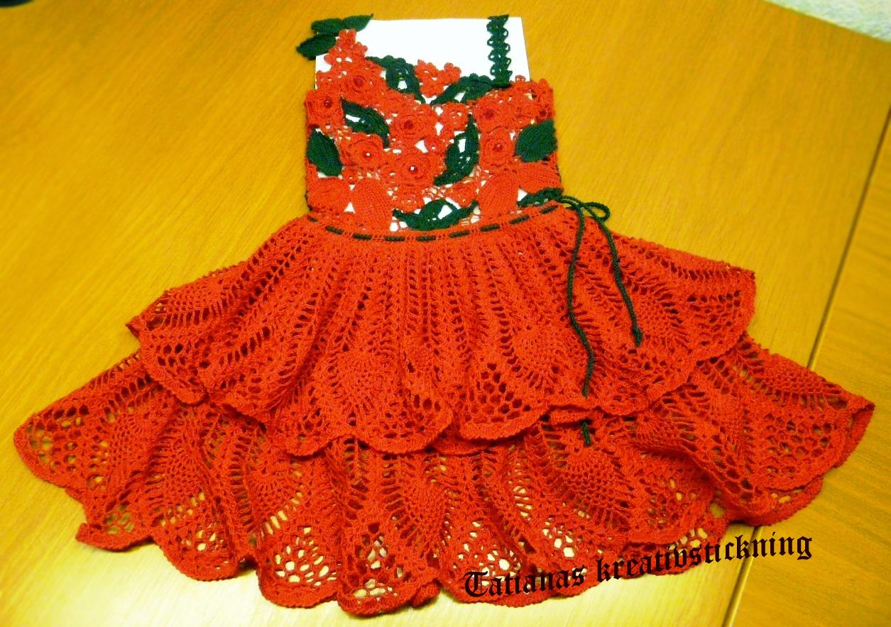 Платье крючком для девочки описание.