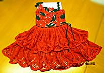 платье для девочки в ирландской технике