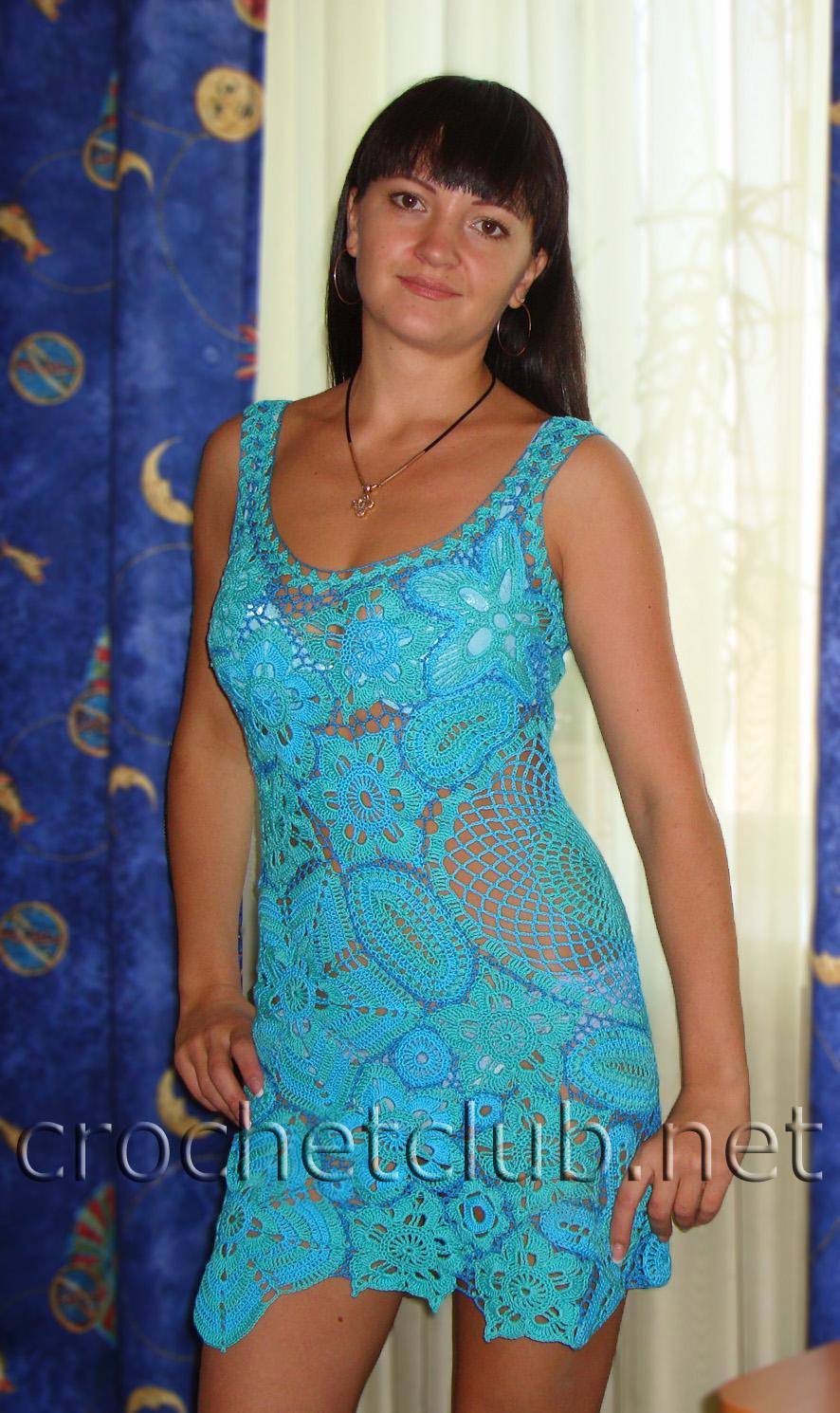 платье цветочная фея крючком схема