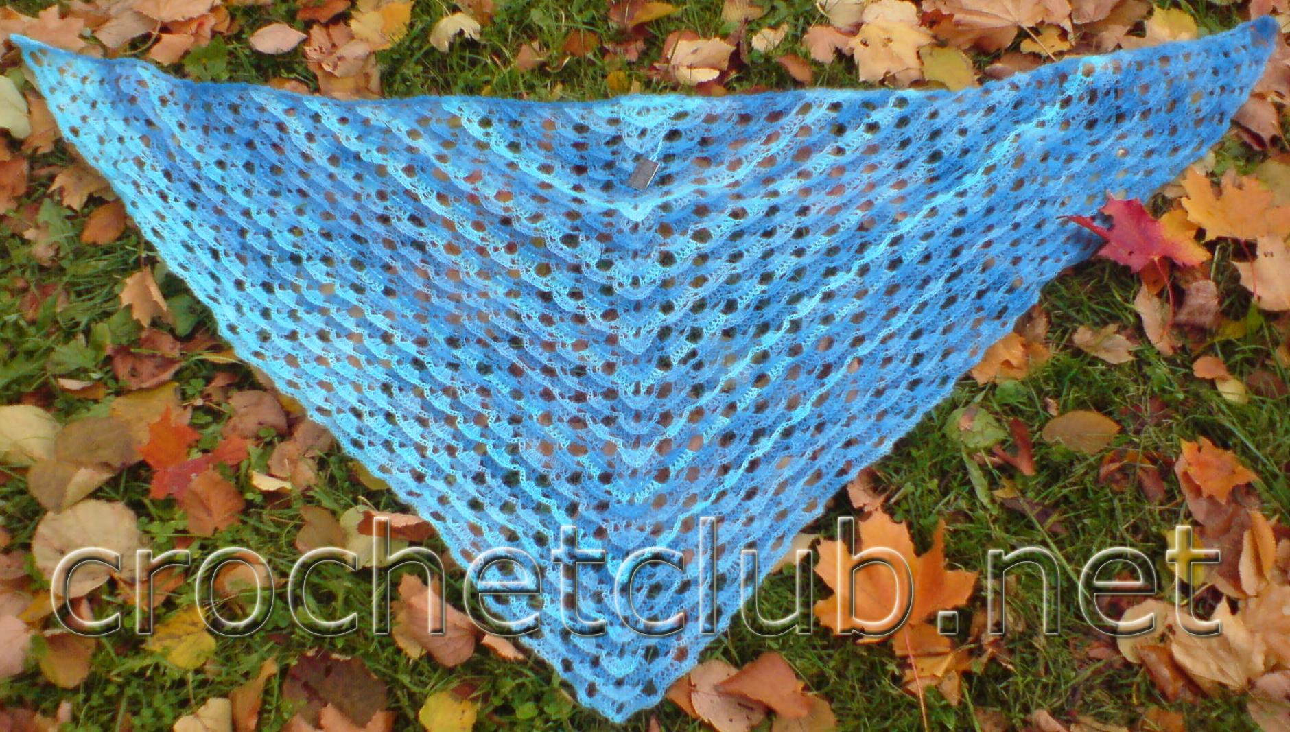 261dd41f51f2 Шаль «Морская», связанная крючком - Вязание Крючком. Блог Настика