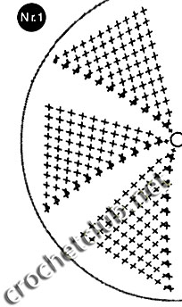 схема берета, связанного крючком 1