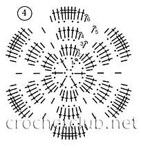 схема цветка 4