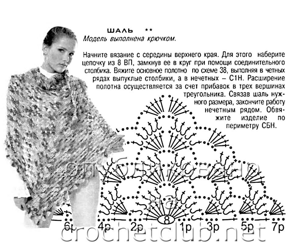 Вязание Крючком Косынки Схемы